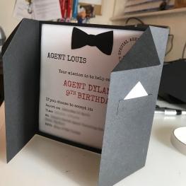 Tuxedo invitation